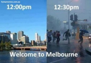 Melbourne weather meme