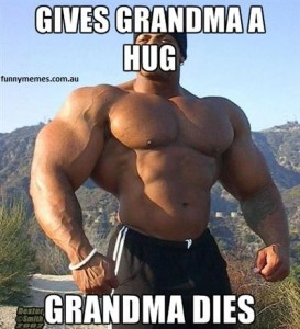 gives grandma huge she dies gym meme