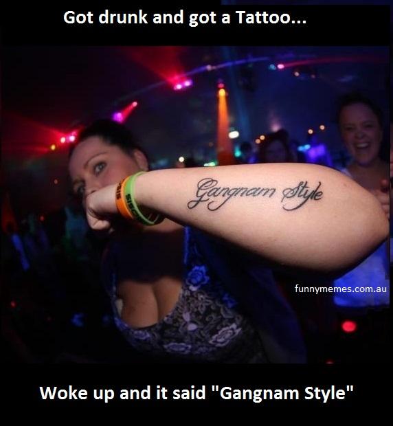gangnam style tattoo meme